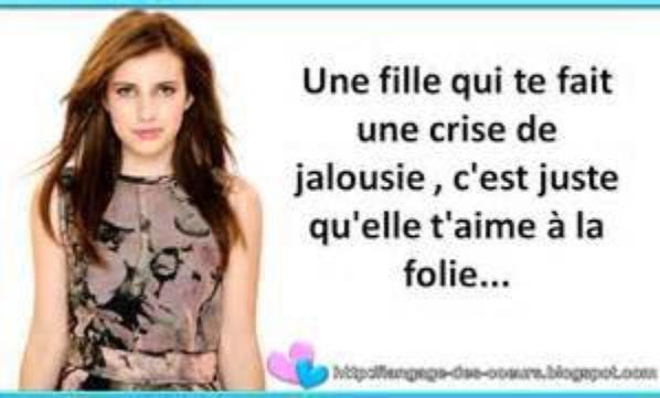 Sur la jalousie..
