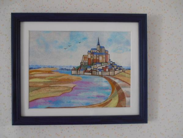 Mont Saint Michel en sable