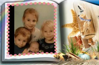 mes petite filles et mon petit fils
