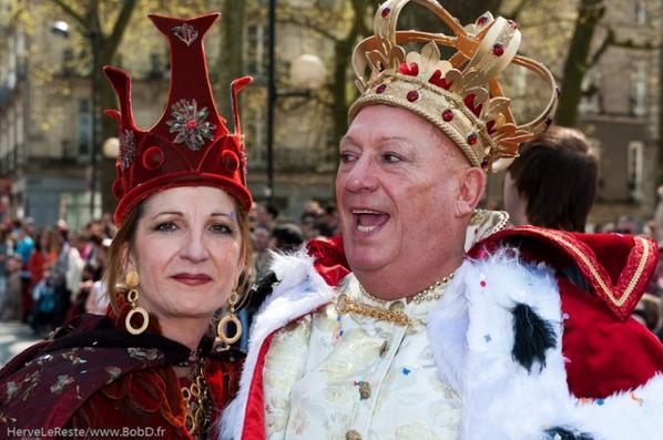 La reine et le roi du carnaval 2010