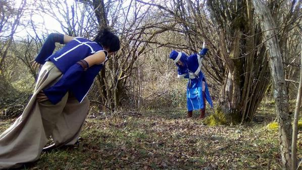 Shooting photo Gruvia
