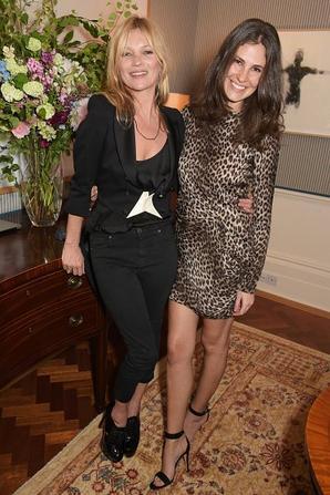 Sabrina Gasperin, Kate Moss et Ara Vartanian assister à un cocktail à Unique collection de bijoux de Ara Vartanian aperçu organisé par Ara Vartanian et Fran Cutler le 17 Juin 2015 à Londres, en Angleterre.