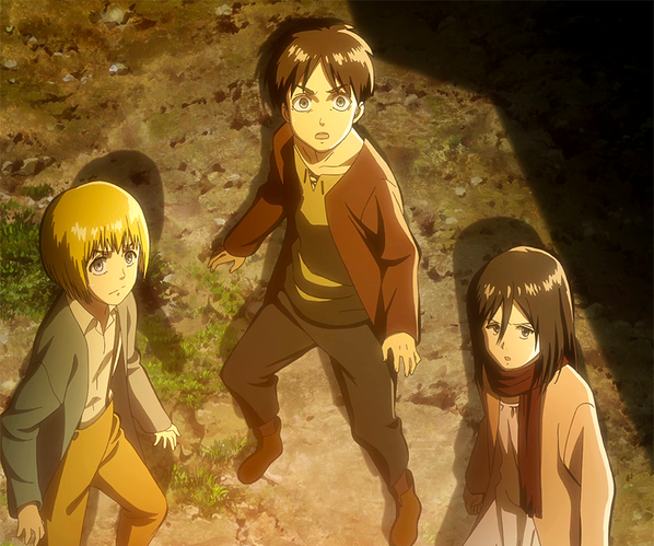 le trio de shiganshina