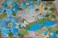 gateaux fait maison fleurs en pate a sucre