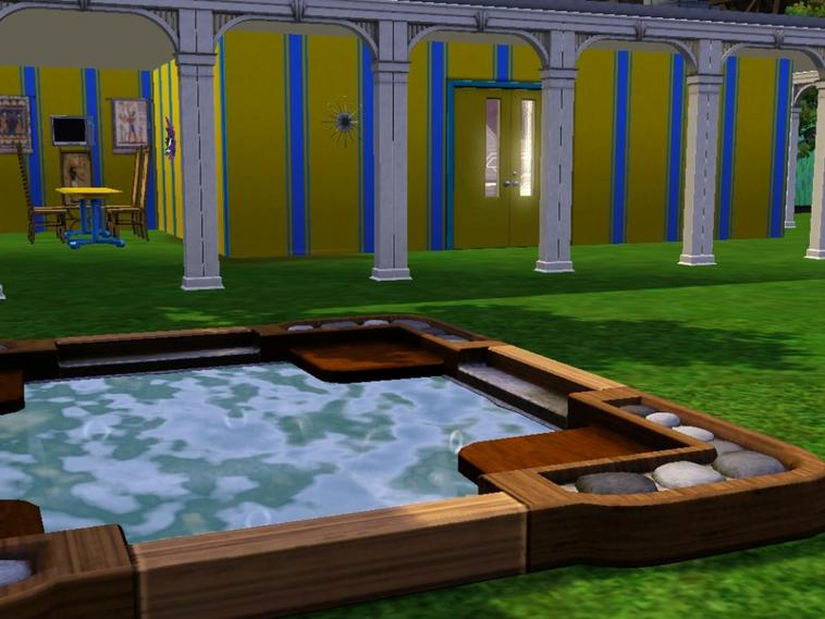 Le jardin et le salon !