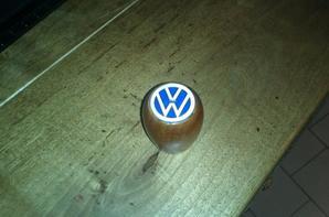 mon pommeau de vitesse vw assortie a mon volant