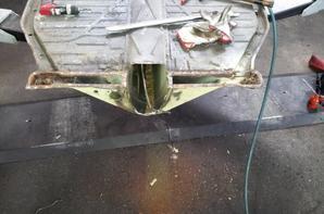 changement du nez de chassis et reparation du chassis