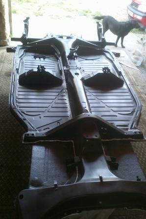 mon chassis avec le joint polyester appliquer sur le dessus