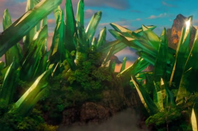 Paysage du monde fantastique d'oz
