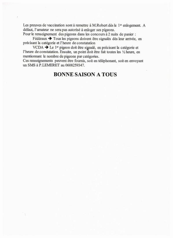 Consignes 2017 pour L'UNION DE FOURMIES