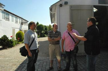 Visite avec des amis chez Hebberecht Chris .
