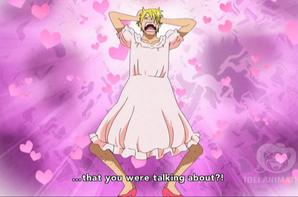 sanji en robe XD