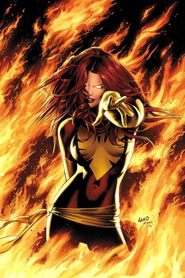 JEAN GREY , MARVEL GIRL ( HERO ) , PHENIX , DARK PHENIX ( VILAIN )
