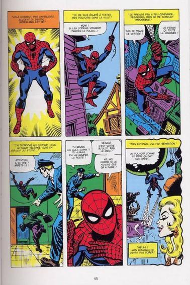 PLANCHE DE COMICS SPIDERMAN