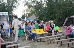 Festival de barde près de la ville de Sol-Iletsk, a bord du lac Pogoroloe. 20-21.06.2014 г.