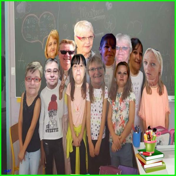 voici la classe de madame josy
