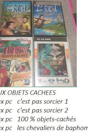 JEUX PC SUITE / OBJETS CACHES