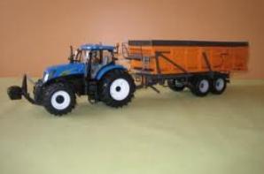tracteur et benne