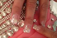 ongle paillette strass marier