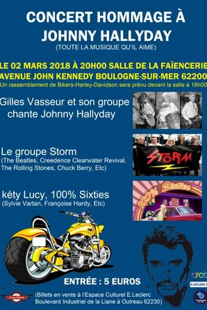 Hommage à JOHNNY HALLYDAY les 2 et 4 Mars 2018 - Boulogne sur Mer