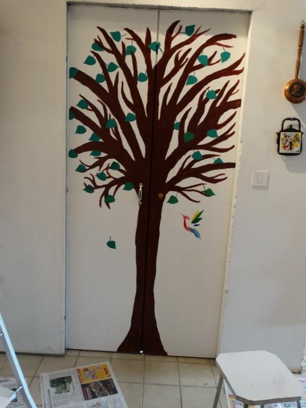 décoration de porte