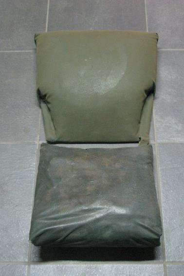 Assise et habillage du panier du side-car Avant - Après