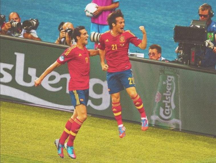 David Silva et Alvaro Arbeloa