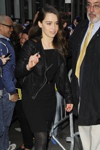 Emilia était hier (21/4/13) sur le tournage de Breakfast At Tiffany's