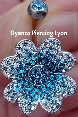 Piercing Nombril Crystal Evolution FLOWER