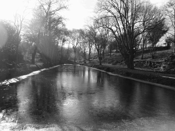 étang gelé