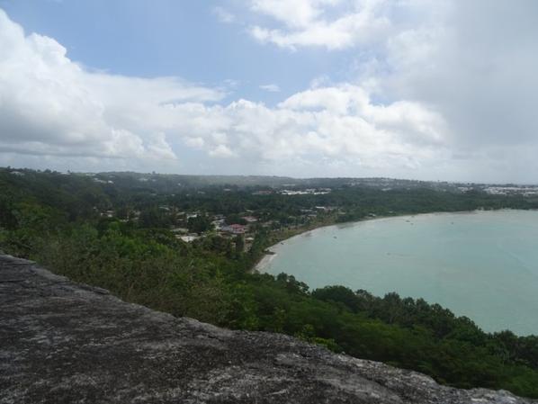 vue sur la plage de gosier