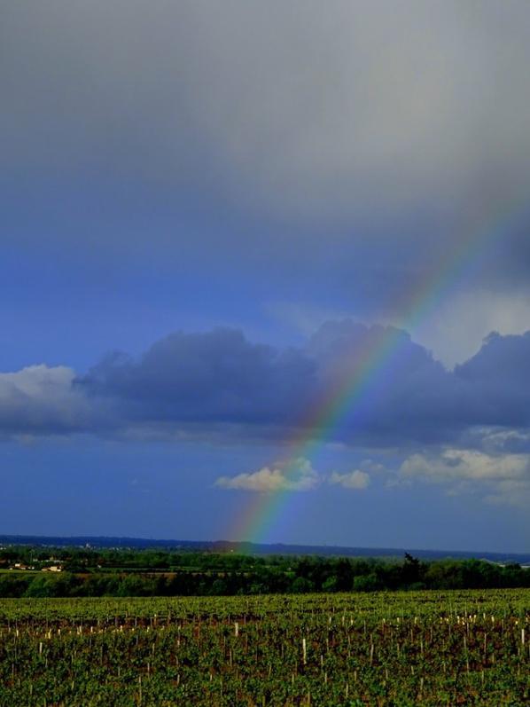 soleil , pluie , arc en ciel.... lol