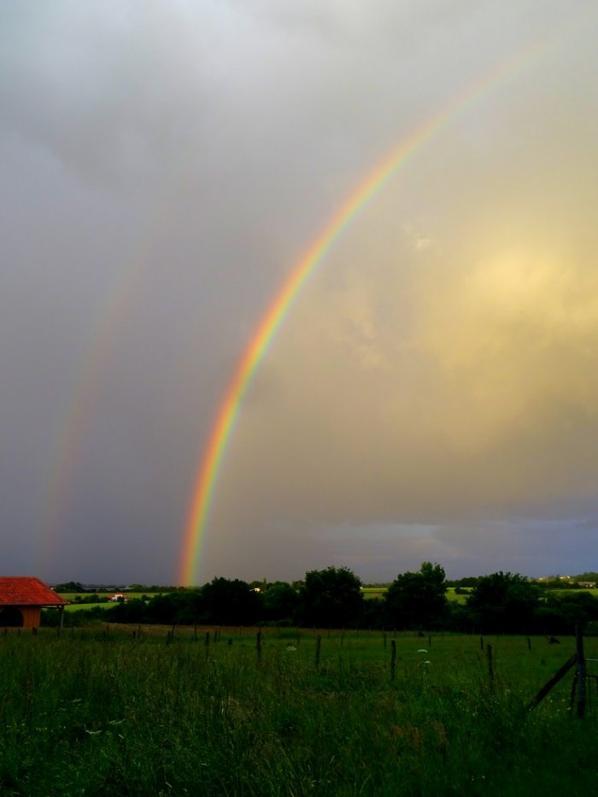 2 arc en ciel dans la même soirée