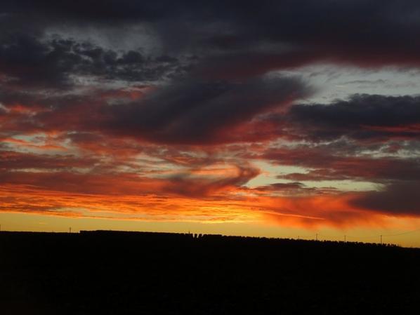 nouvelles couleurs pour le coucher de soleil hier soir