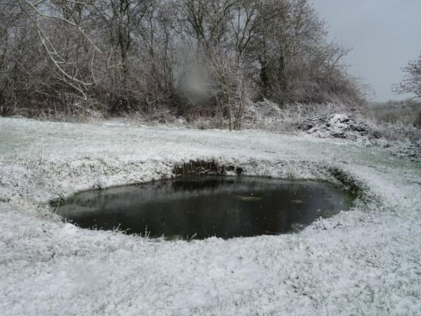 la neige disparue aussi vite qu'elle est apparue