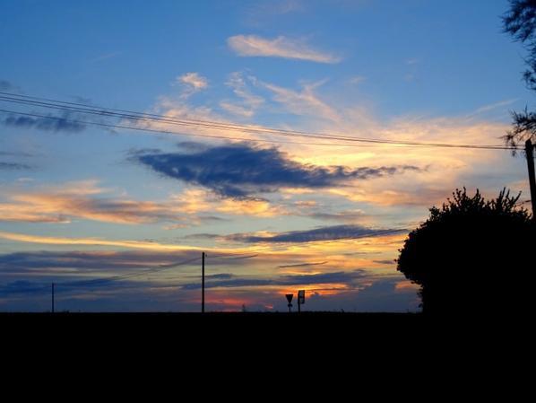 coucher de soleil vu de mon portail