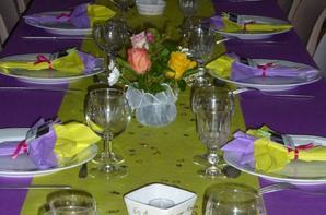 Déco de table pour des noces d'or. (juillet 2014)