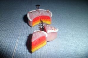 Gâteau avec ses deux petites parts :)