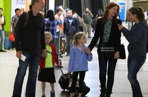 .Photos: 15/08/13: Marcia et sa famille quittent l'aéroport de Los Angeles pour Paris