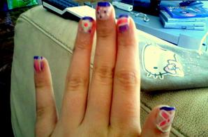 j'ai essayer de faire du nail art