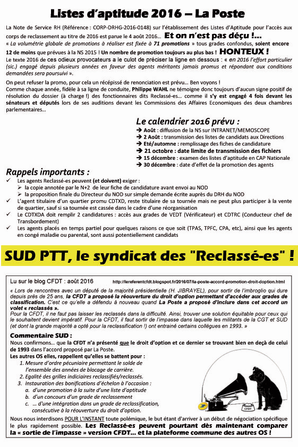 TRACT RECLASSE(E)S Août 2016