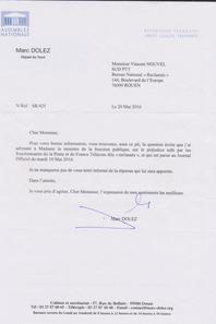Reclassé(e)s PTT : Marc DOLEZ Député du Nord