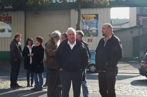 La Poste Le Havre 31 jours de Grève, Catherine TROALLIC (Députée PS) et Sylvain SIGURANI (Secrétaire Régional SUD Haute Normandie) Gérard FILOCHE (PS) et Sébastien DELABARRE (Bureau Fédéral SUDPTT-SUD Haute Normandie) Gérard FILOCHE : Prise de parole