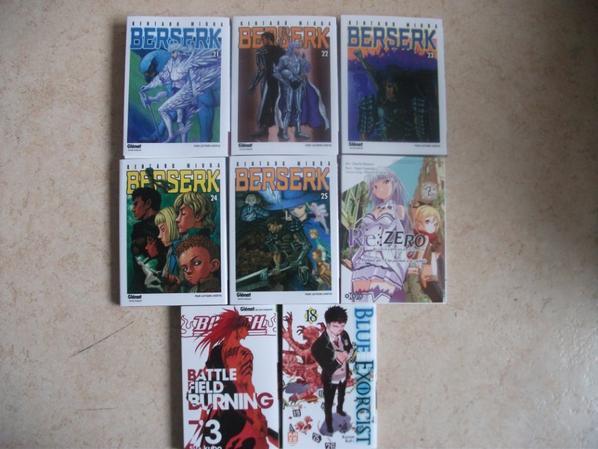 les mangas j'ai eux au mois mai ^^