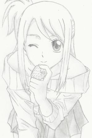 Fan art n°14 : Lucy aime les fraises