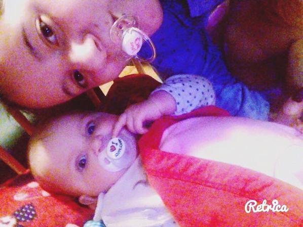 moi et ma fille loanna <3