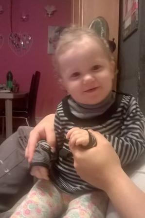 ma fille tatiana une petite chipie lol