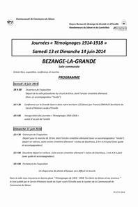 """""""LA GRANDE GUERRE"""" EXPOSITION ET CONFERENCE A BEZANGE LA GRANDE les 14 et 15 JUIN 2014"""