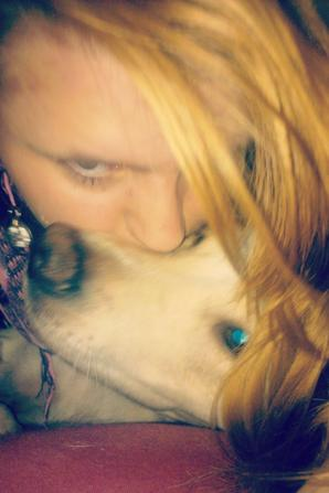 Moi et le chien d'un ami
