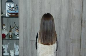mes princesses qui reviennent de chez le coiffeur...fevrier 2015 malicia 10ans demain ;)